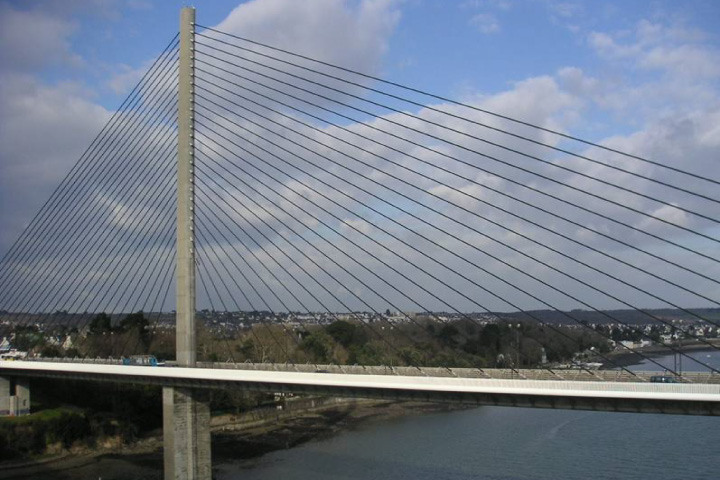 Vibration monitoring of the Iroise cable-stayed bridge