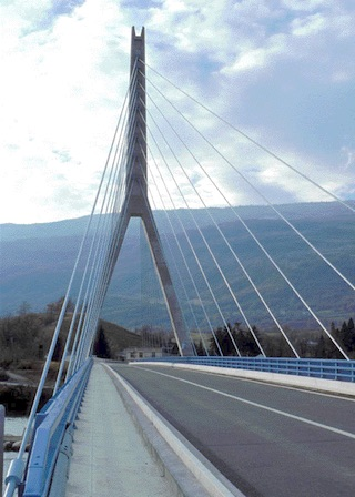 Seyssel cable stayed bridge
